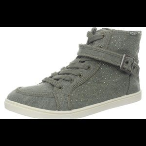 Roxy Studded Green High Top Sneakers